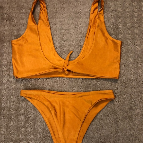 dc28ac1038a60 High Waist Bikini - Sunburnt Orange